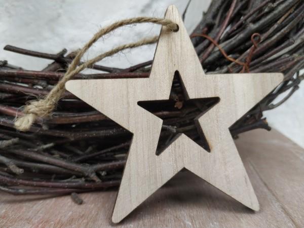 Stern, natur, 8,5 cm