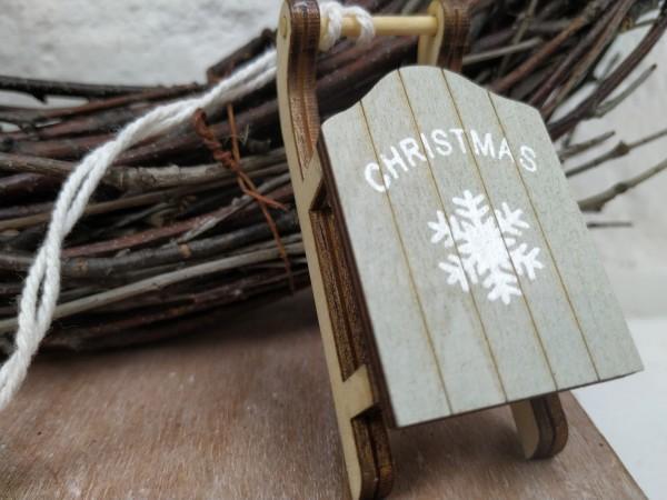 Schlitten, Holz, Christmas, zum Hängen