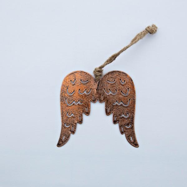 Flügel, Metall, kupfer, 10x10x0,2 cm , zum Hängen