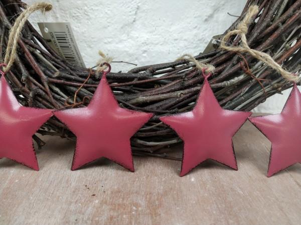 Sterne, Metall, rosa, Set, 4 Stück, zum Hängen